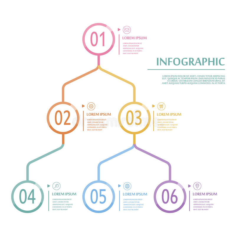 Элегантный infographic шаблон иллюстрация вектора