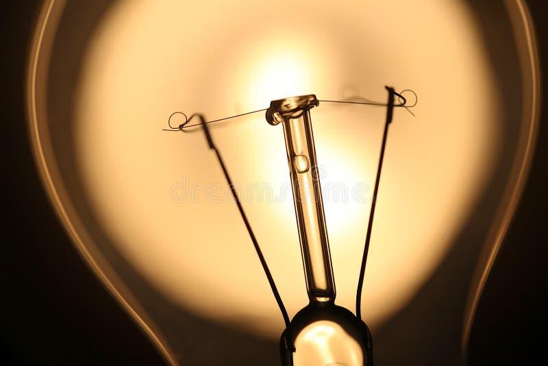Электрическая лампочка над солнечным светом стоковое изображение rf