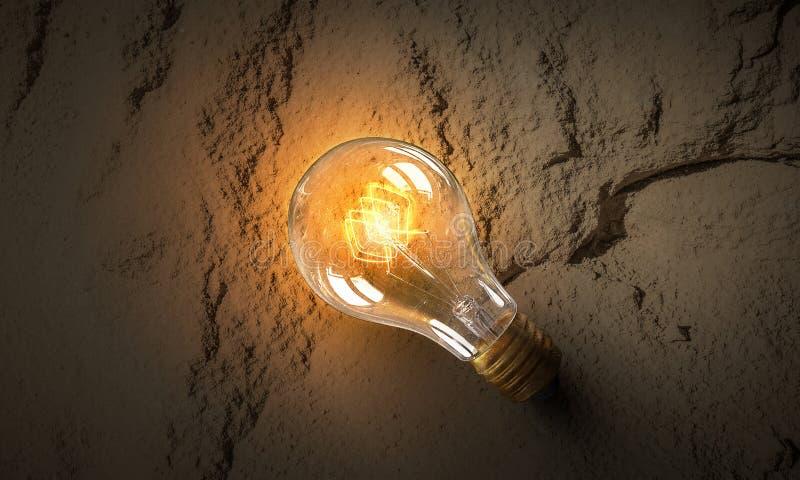 Download Электрическая лампочка на текстуре Мультимедиа Стоковое Изображение - изображение насчитывающей backhoe, цемент: 81807669