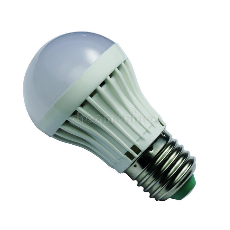 Электрическая лампочка СИД изолированная на белой предпосылке стоковое изображение rf