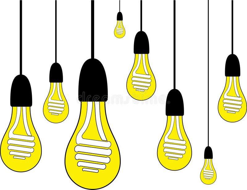 Электрическая лампочка с винтажной предпосылкой стоковые изображения