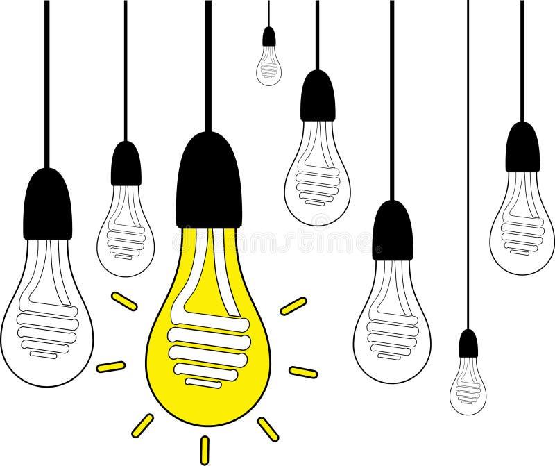Электрическая лампочка с винтажной предпосылкой стоковое фото