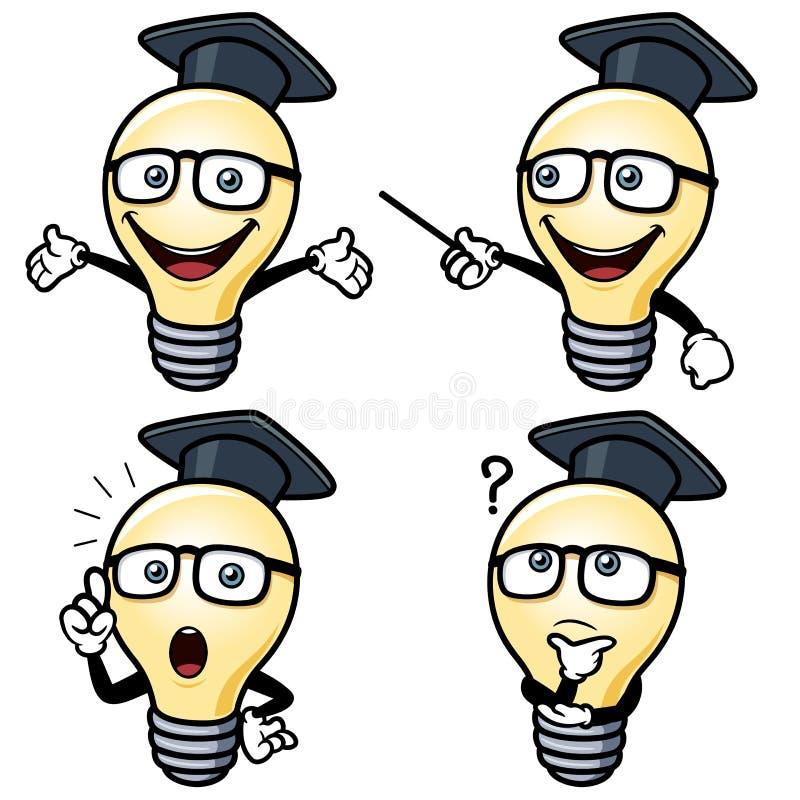 Электрическая лампочка шаржа иллюстрация вектора