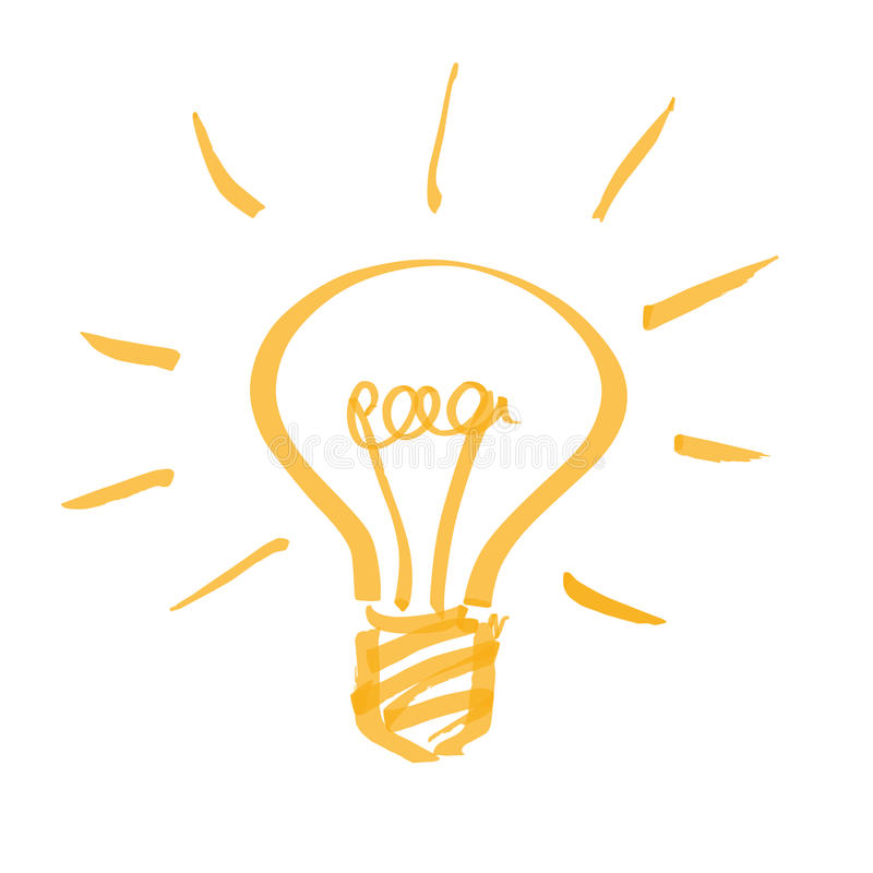Электрическая лампочка иллюстрация штока