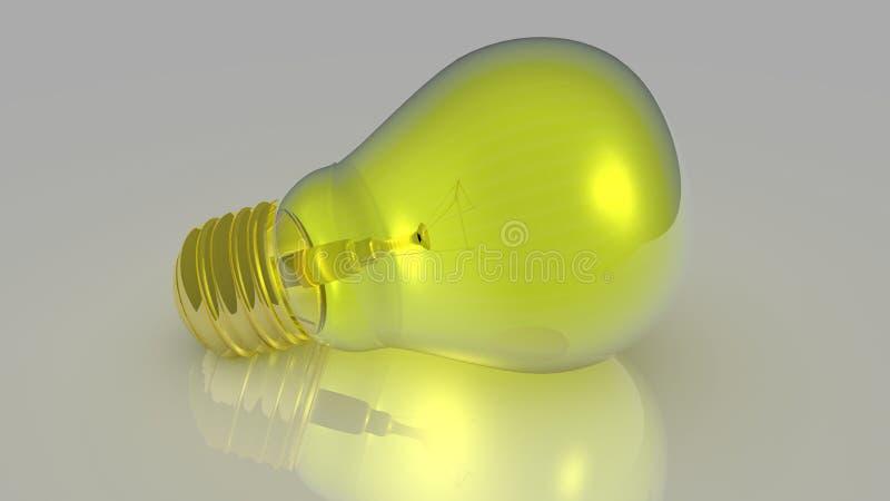 электрическая лампочка 3D стоковое изображение