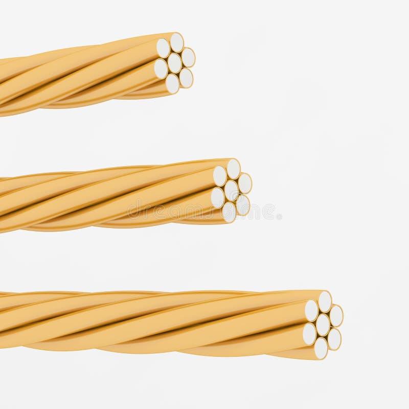 Электрическая кабельная проводка с путем клиппирования иллюстрация вектора