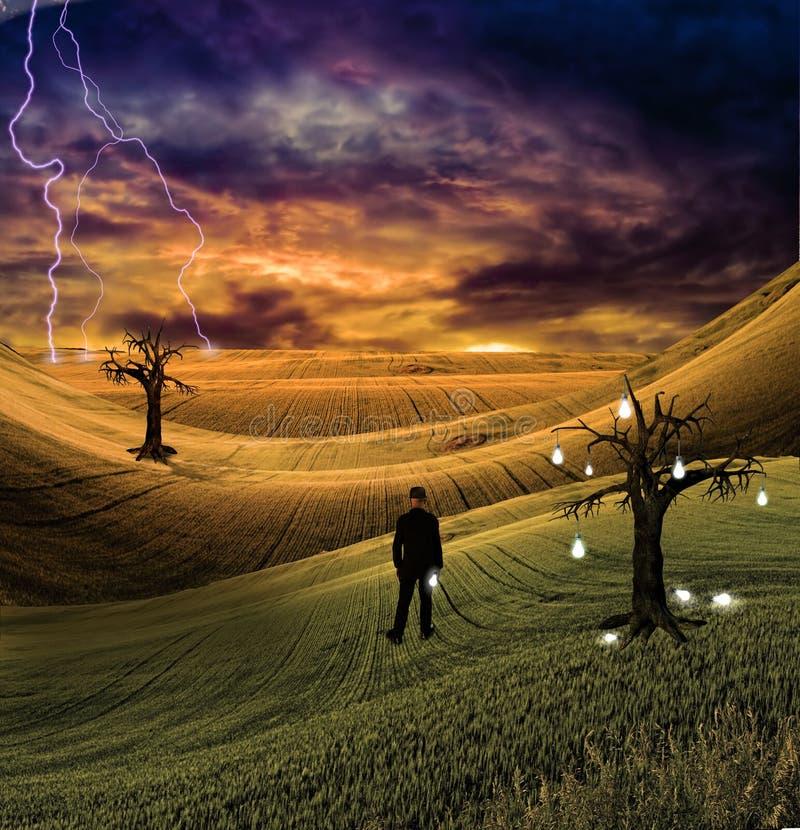 электрическая ноча иллюстрация штока