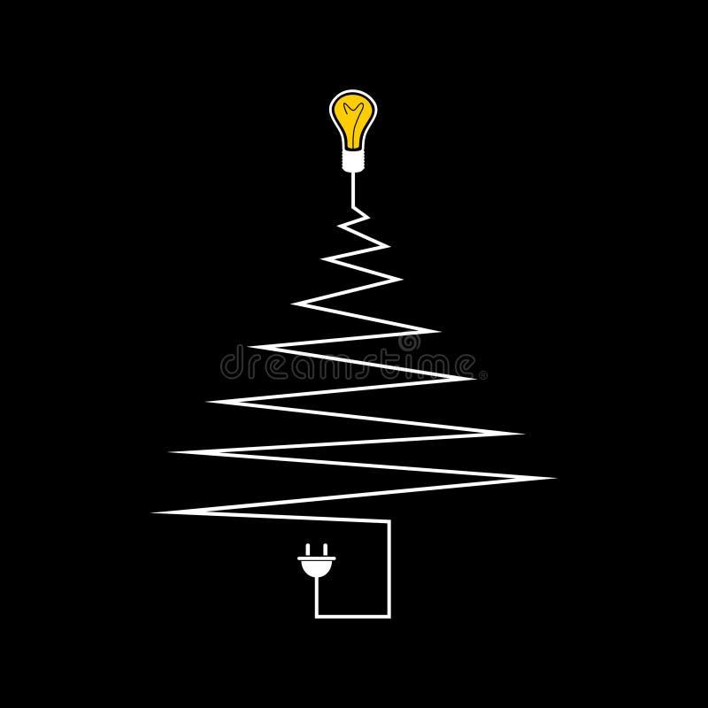 Download Электрическая рождественская елка Иллюстрация вектора - иллюстрации насчитывающей кнопка, льдед: 33736520