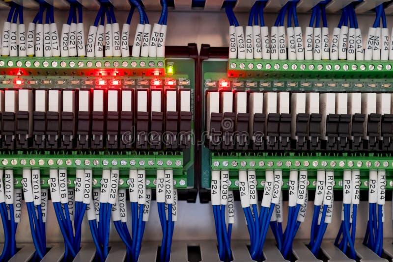 Электрическая система контрольного провода стоковое изображение