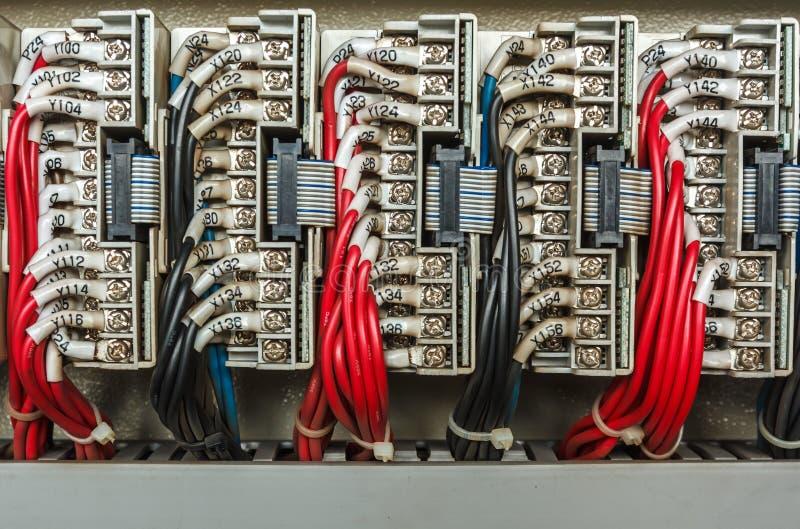 Электрическая система контрольного провода стоковое фото