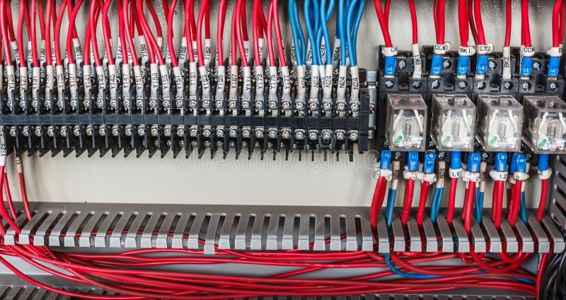 Электрическая система контрольного провода стоковое изображение rf