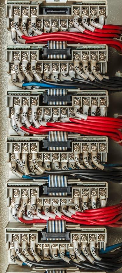 Электрическая система контрольного провода стоковые изображения rf
