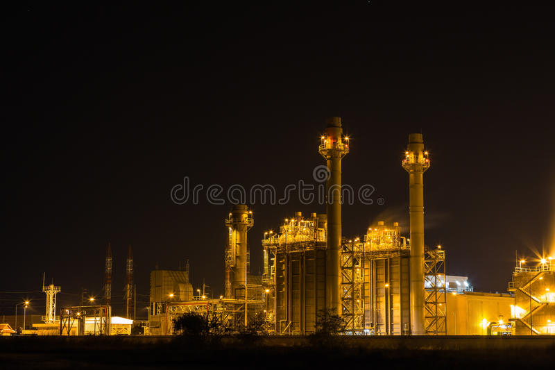 Электрическая станция электропитания стоковая фотография rf