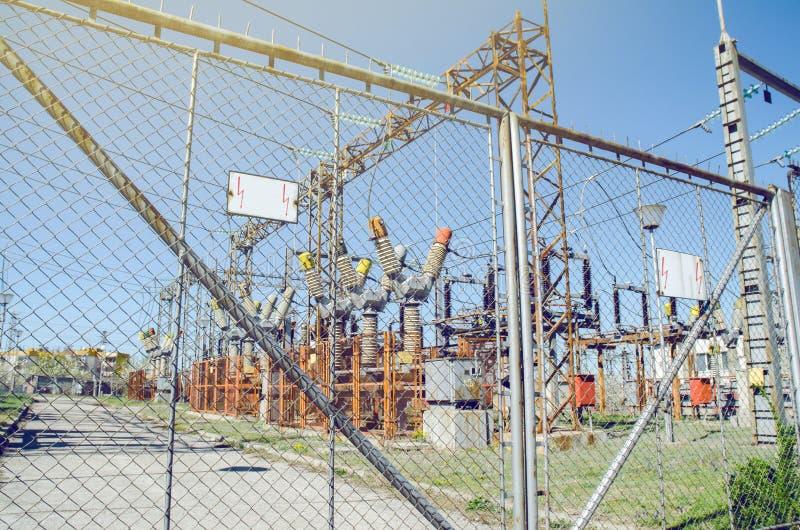 Электрическая станция электропитания стоковые фото