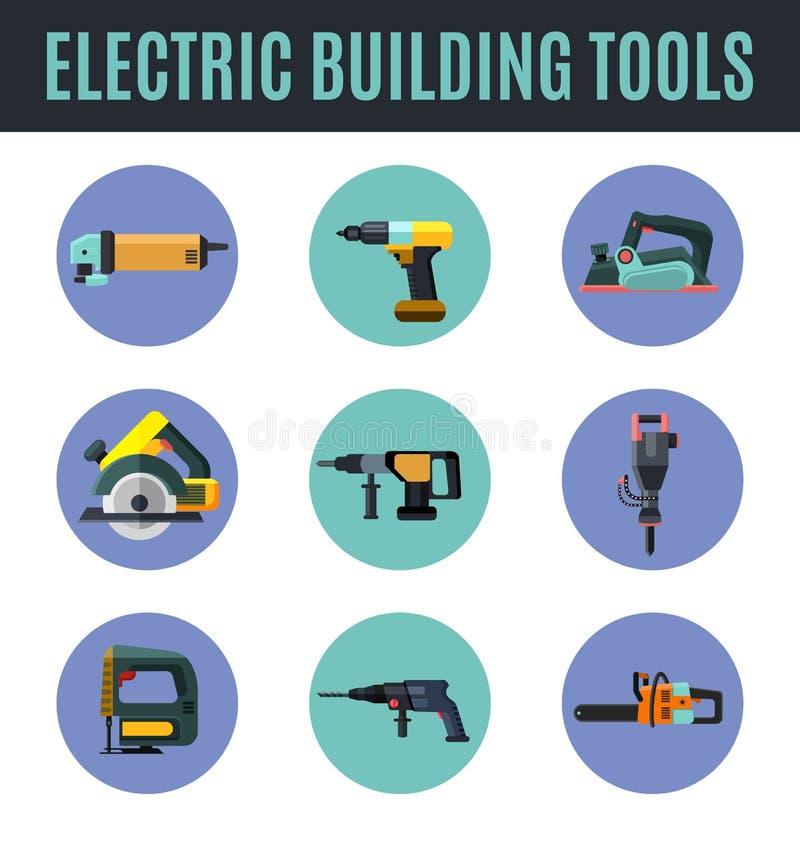 Электрические инструменты здания иллюстрация вектора