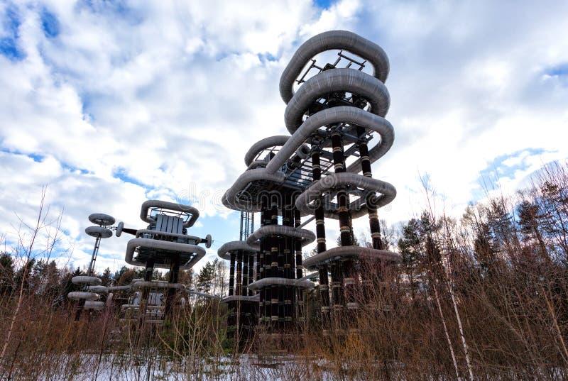 Электрический высоковольтный генератор Marx стоковые фотографии rf
