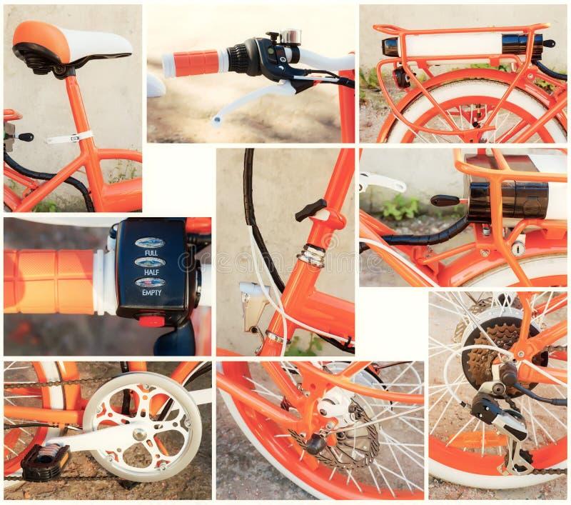Электрический комплект конца-вверх частей велосипеда стоковое фото