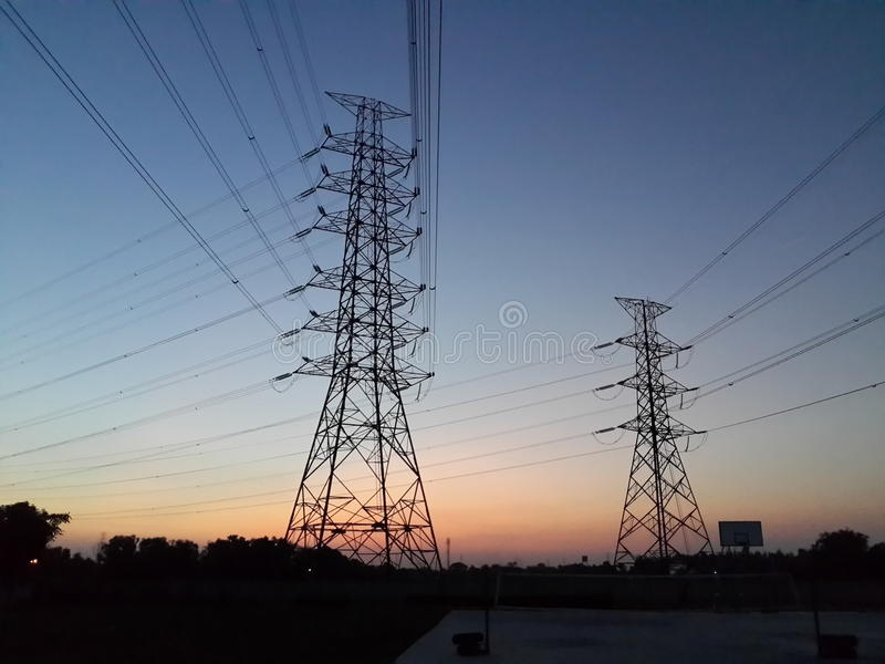 электрический полюс стоковое изображение
