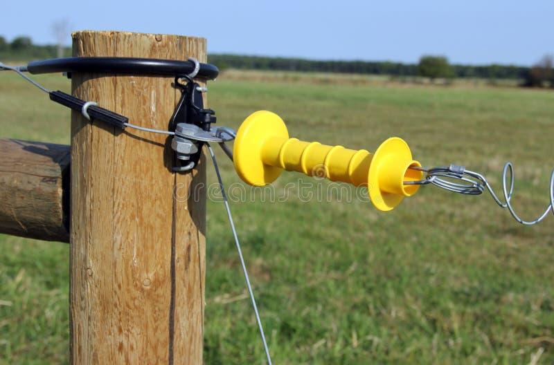 Электрический строб загородки стоковая фотография