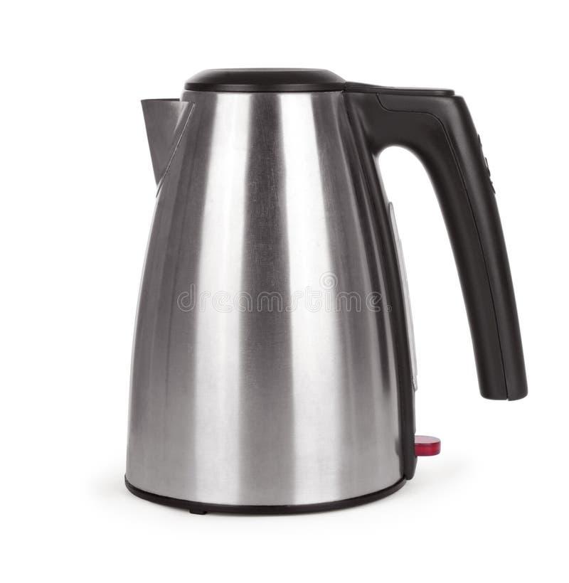 Электрический чайник на белизне стоковые изображения