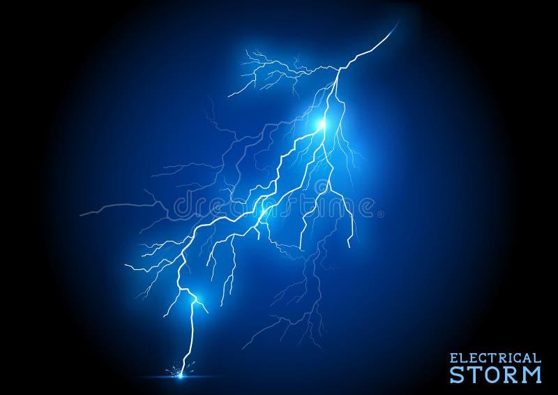 Электрический шторм иллюстрация штока