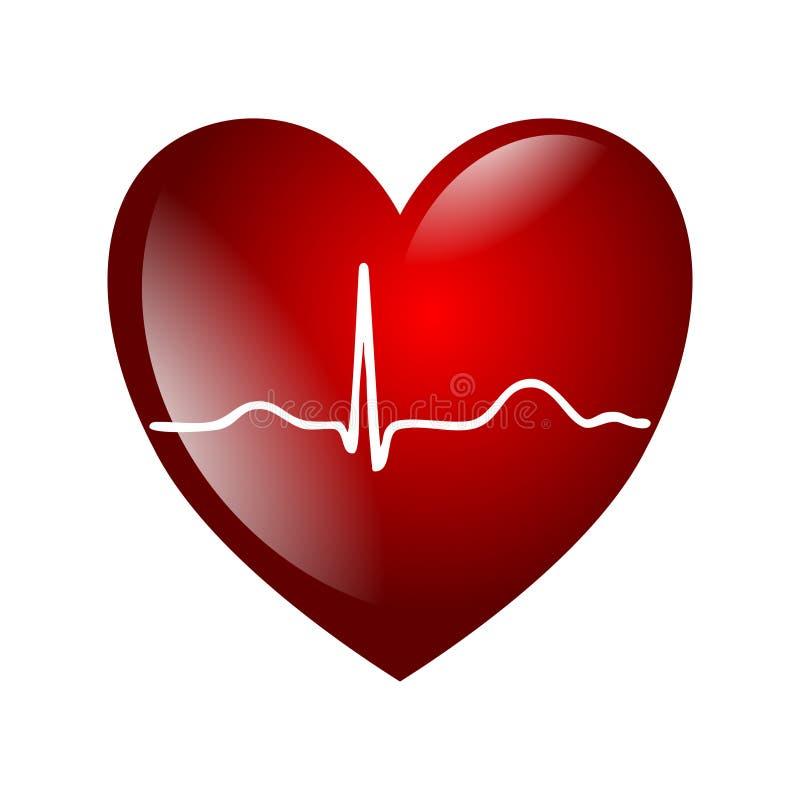 Электрокардиограмма сердца иллюстрация вектора