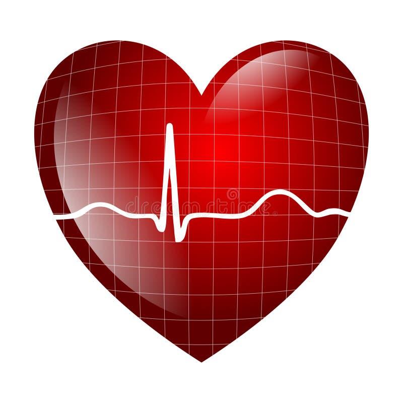 Электрокардиограмма сердца бесплатная иллюстрация