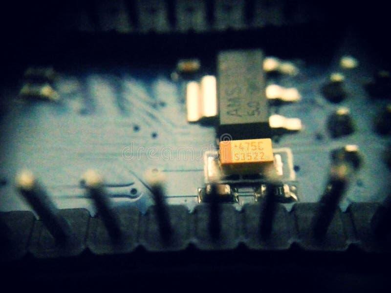 Электроника Arduino внутрь стоковое изображение