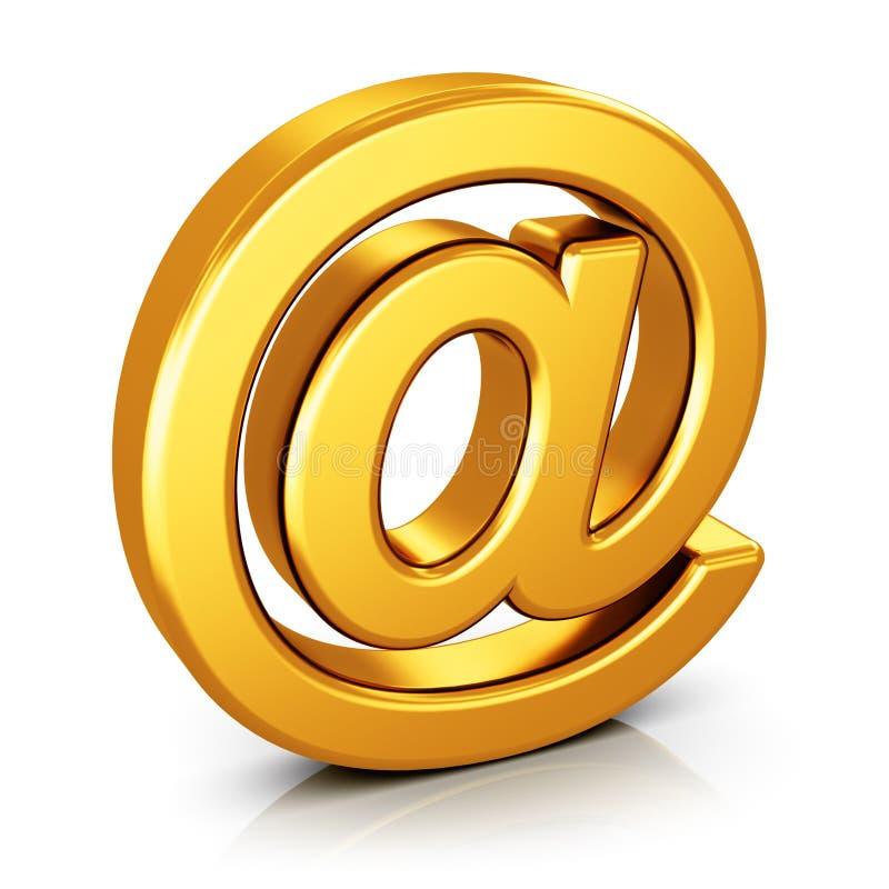 Электронная почта НА символе изолированная на белой предпосылке иллюстрация вектора