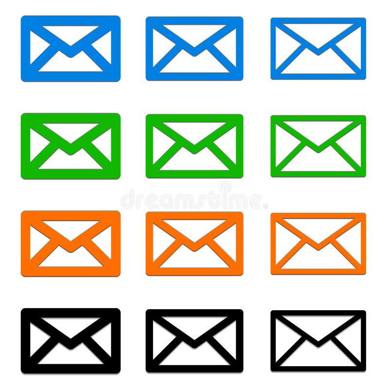 Download Электронная почта, письмо, символы конверта сообщение, контакт, поддержка Иллюстрация вектора - иллюстрации насчитывающей дело, самомоднейше: 81806796