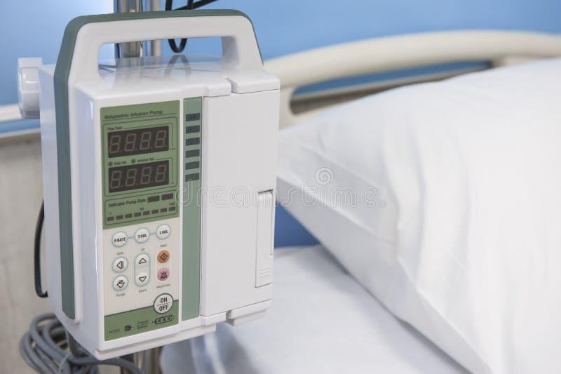 Электронные медицинские управления машины вливания стоковое фото rf