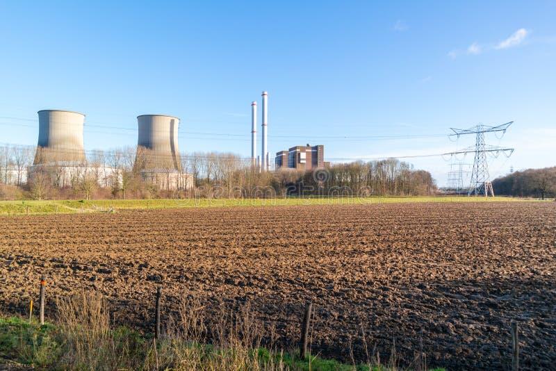 Электростанция Clauscentrale в Maasbracht, Нидерландах стоковые фотографии rf