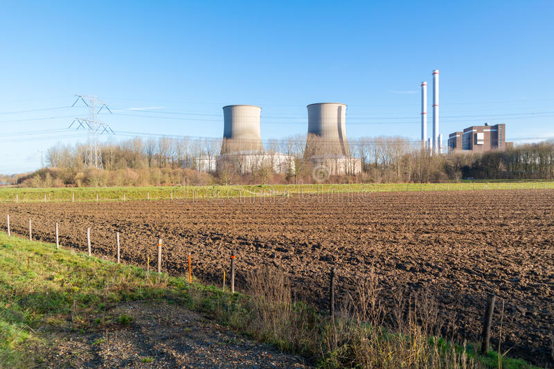 Электростанция Clauscentrale в Maasbracht, Нидерландах стоковое изображение rf