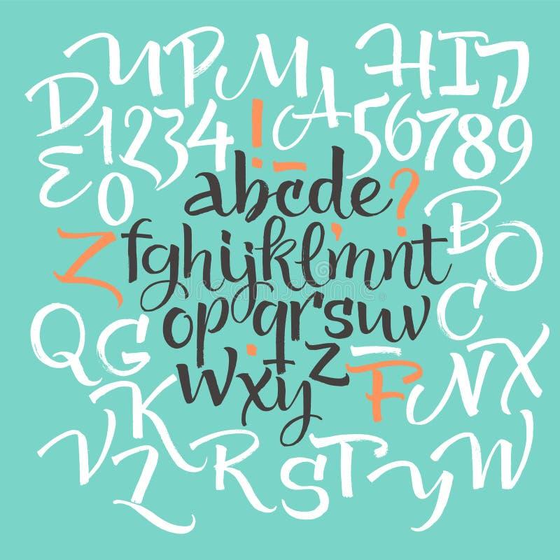 элементы алфавита scrapbooking вектор иллюстрация штока
