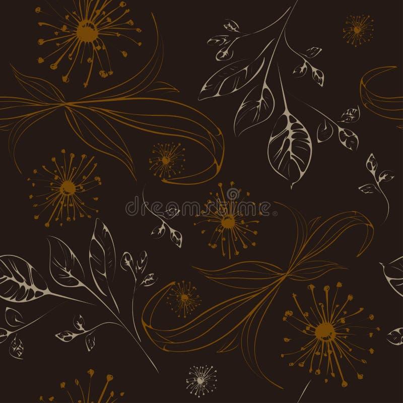 Элементы безшовной картины флористические иллюстрация штока