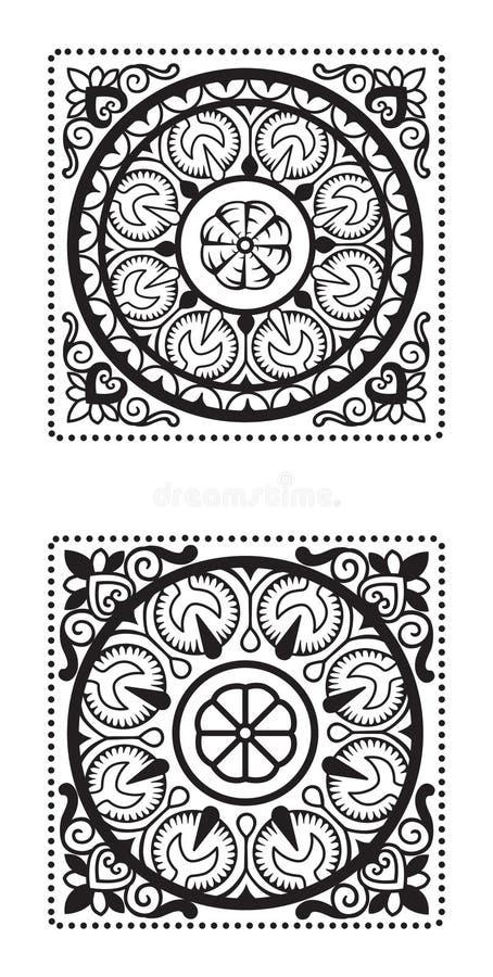 Элементы в восточном стиле круг стоковая фотография rf