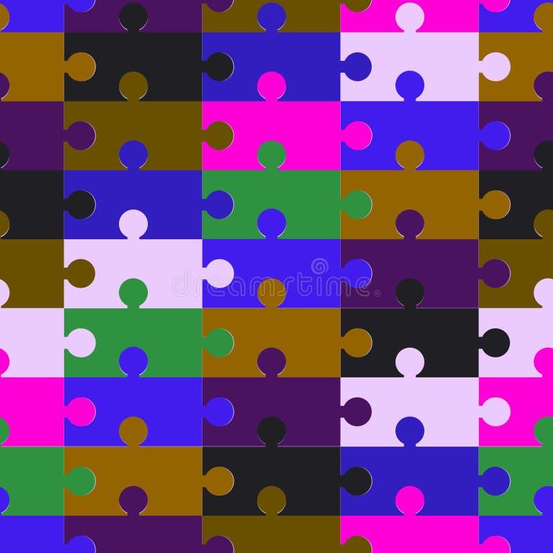 Элементы головоломок. Иллюстрация вектора. иллюстрация вектора