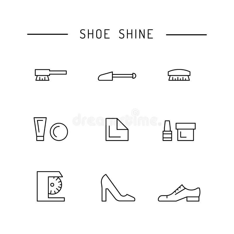Элементы заботы ботинка бесплатная иллюстрация