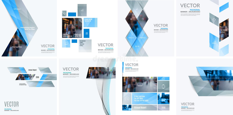 Элементы дизайна вектора дела для графического плана Современный abstr бесплатная иллюстрация
