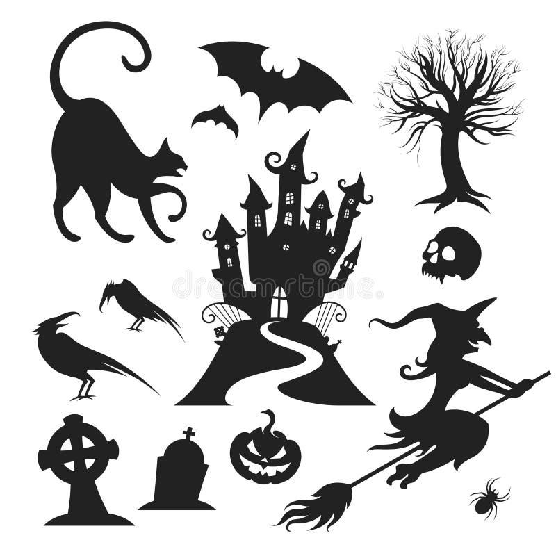 Элементы дизайна вектора хеллоуина бесплатная иллюстрация