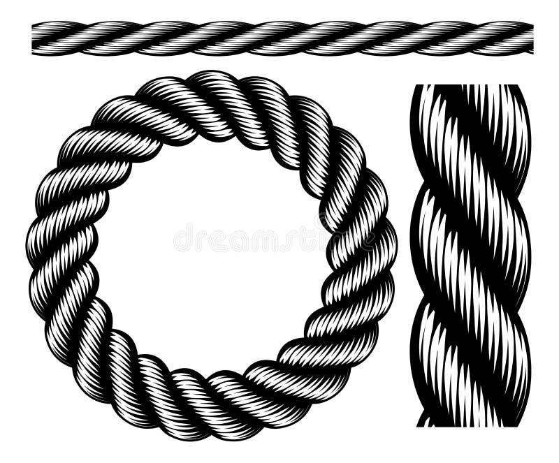 Элементы дизайна веревочки бесплатная иллюстрация