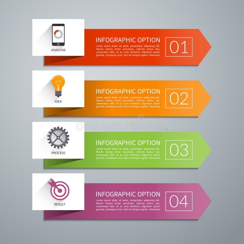 Элементы дизайна стрелки вектора для infographics бесплатная иллюстрация