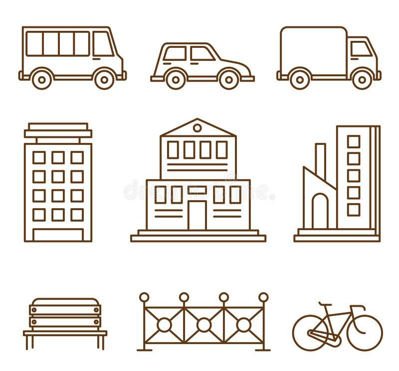 Элементы дизайна для иллюстрации или карты города иллюстрация штока