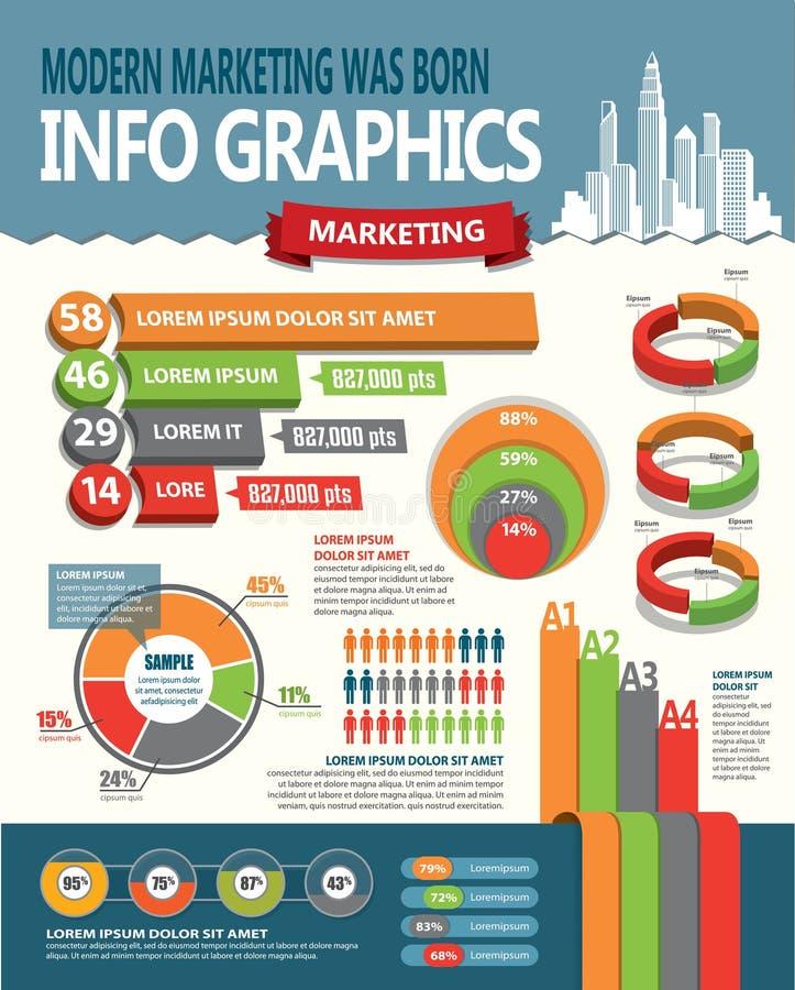 Элементы дизайна Infographic иллюстрация вектора