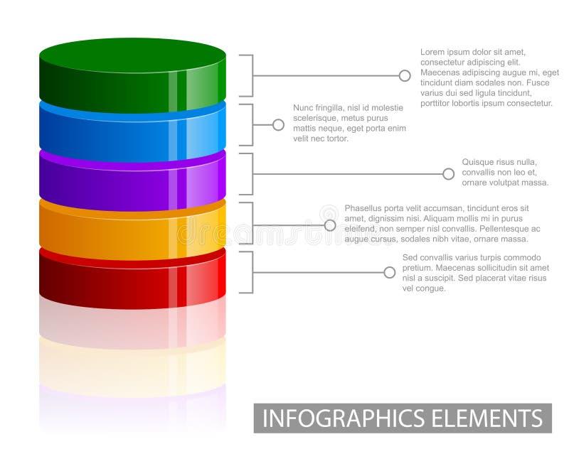 Элементы информаци-графика тома иллюстрация вектора