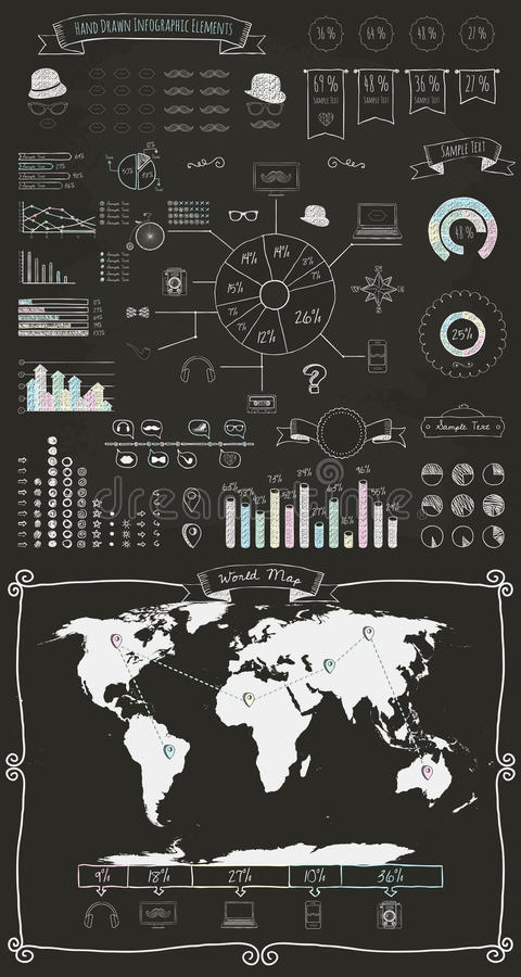 Элементы и значки Infographics иллюстрация штока
