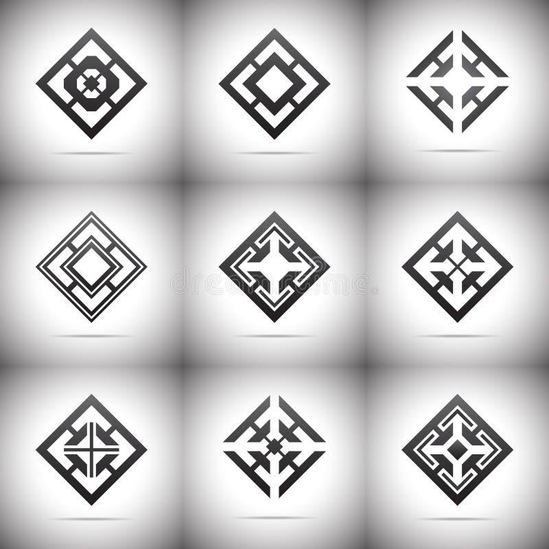 Элементы конспекта 9 - логотип иллюстрация штока