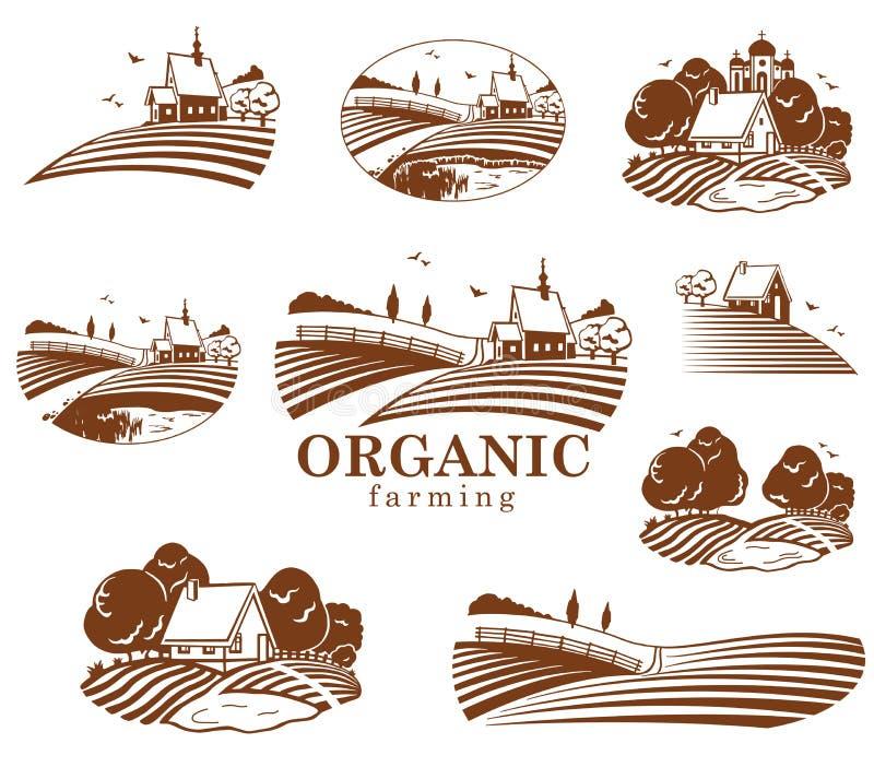 Элементы конструкции органического здания иллюстрация штока