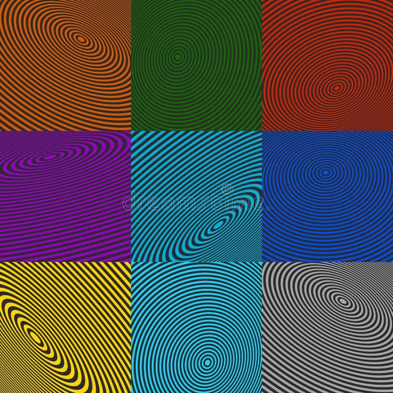 Download Элементы концентрического круга Излучающ, радиальные круги Иллюстрация вектора - иллюстрации насчитывающей центр, картина: 81812400