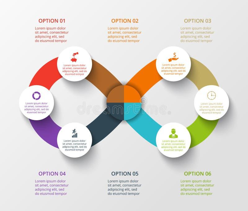 Элементы круга вектора для infographic бесплатная иллюстрация
